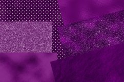 Purple Glitter and Foil Digital Paper Pack Product Image 4