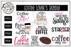 Coffee Bundle | 10 Funny Coffee SVG or Sublimation Designs Product Image 1