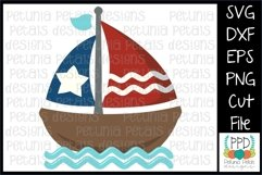 American Flag Sailboat SVG 11271 Product Image 1
