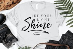 Let Your Light Shine SVG, Cutting File, T-Shirt Design Product Image 1