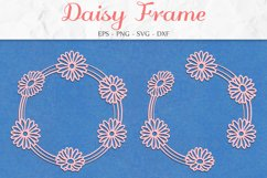 Daisy Frame SVG, Floral Clipart, Flower Wreath, Mothers Day Product Image 1