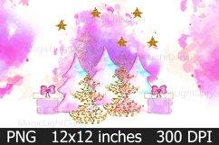 Christmas Trees Sublimation PNG,Christmas Card DIY Product Image 1