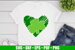 Shamrock Heart SVG files for Cricut, Heart Clover SVG Product Image 1
