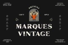 Marques Vintage Font Family Bonus Extras Product Image 1