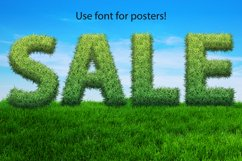 Grass spring summer alphabet. PNG graphic eco font Product Image 2