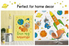 LITTLE SPACEMAN Vector Illustration Seamless Pattern Set Product Image 5