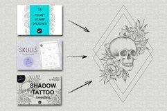Shadow tattoo needles brushes for Procreate Product Image 3
