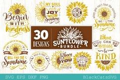 Sunflower SVG bundle 30 designs sunshine SVG bundle Product Image 6