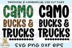 Camo Bucks & Trucks Kids Grunge Distress SVG Product Image 3