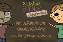 Zombie Buddy  An Apocalyptic Alternate Duo Font Product Image 3