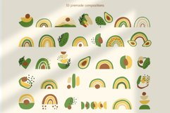 Avocados and Rainbows Set, Clipart, Patterns, Alphabet. Product Image 4
