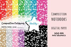 Composition Notebook Digital Paper, School Background Product Image 1
