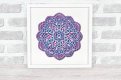Mandala SVG 3d Layered | Multi Layer SVG | Floral Cut File Product Image 4