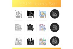 Building icons set Product Image 1
