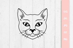 Sweet Cat Svg, Cat Cut File Product Image 1