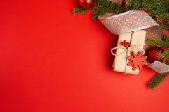 Art red Christmas holidays background, greeting card Product Image 1