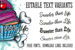 Cupcake Tattoo Style Vector Product Image 3