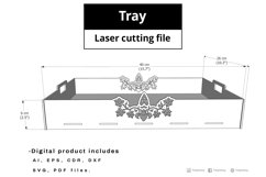 Tray - laser cut file Product Image 2