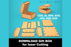 Gift Box - Laser cutting File Product Image 3