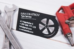 Tyre service business card template cutting file Product Image 3