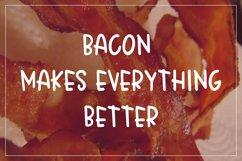 Crispy Bacon - A quirky all caps font - WEB FONT Product Image 2