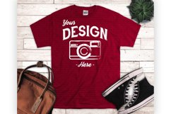 T shirt Mockup Bundle 5 Colors Styled T Shirt Display Product Image 3