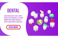Dental concept banner, isometric style Product Image 1