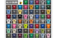 Stone Background T Shirt Mockup Bundle 61 Colors On Rock Product Image 2