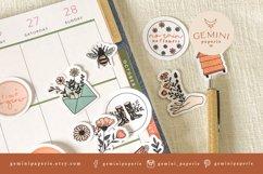 Botanical Printable Stickers | Cricut Design Sticker Sheet Product Image 6