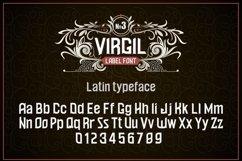 """Vintage otf font """"Virgil"""" Product Image 3"""
