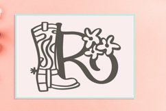 Web Font Western Country Monogram Letter Font Product Image 2