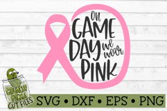 On Game Day We Wear Pink Football / Breast Cancer Awareness Product Image 2