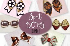 6 Sport Hair bow template SVG, Faux leather bow Cricut file Product Image 1
