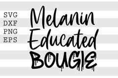 Melanated Educated Bougie SVG Product Image 1