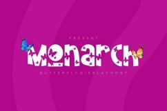 Monarch - Butterfly Display Font Product Image 1