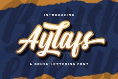 Aylafs - Bold Script Font Product Image 1
