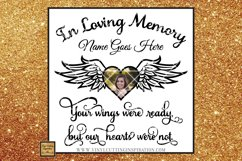 Angel Wings Svg Heart Svg In Loving Memory Sympathy svg dxf Product Image 1
