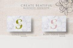 Adenium Font Gold & Rose Gold Foil Product Image 4