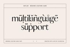 skylar - ligature sans font family Product Image 4