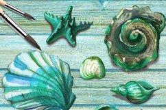 Turquoise ocean Seashell Product Image 2