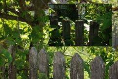 Village fence digital photo backdrop, farm backdrop Vol3 Product Image 3
