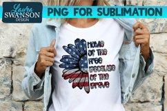 Patriotic Sunflower Glitter PNG | Patriotic PNG Sublimation Product Image 1