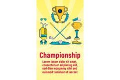 Championship concept banner, cartoon style Product Image 1