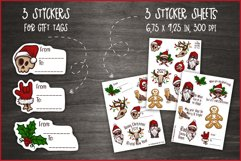 Creepy Christmas & Heavy New Year Stickers, Christmas PNG Product Image 4