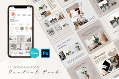 Neutral Instagram Posts Template Product Image 1