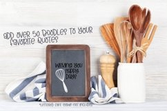Kitchen - Font Duo of Silly Kitchen Letters & Doodles Product Image 5