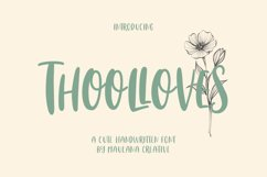 Thoolloves Cute Handwritten Font Product Image 1
