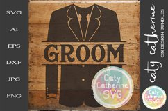 Wedding Party Male Roles Tuxedo Groom SVG Product Image 1