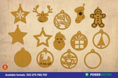 Christmas Ornaments Laser CNC Cutting Engraving Patterns Product Image 2