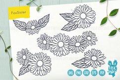 Flower svg, Flower Vector Cut File, Floral svg, Daisy svg Product Image 1